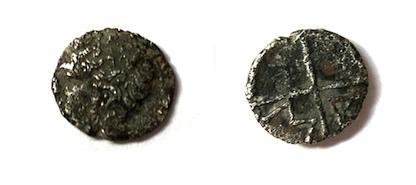 Gaul MASSALIA Marseilles Silver AR Obol Apollo Wheel
